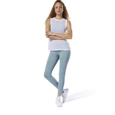 Women Dance Blue Dance Mesh Leggings