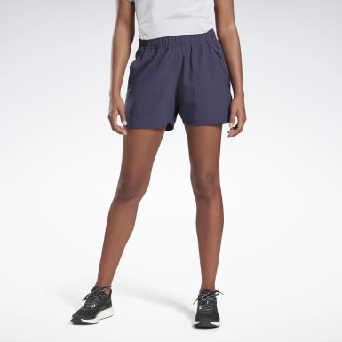 Women Running Purple Night Run Shorts