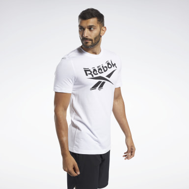 Männer Fitness & Training Graphic Series Crew T-Shirt Weiß