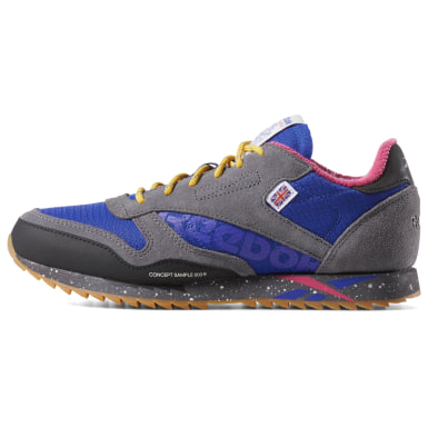 Kids Classics Blue Classic Leather Ripple Altered Shoes - Grade School