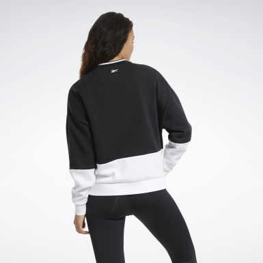 Dames Fitness & Training Zwart Training Essentials Logo Sweatshirt met Ronde Hals