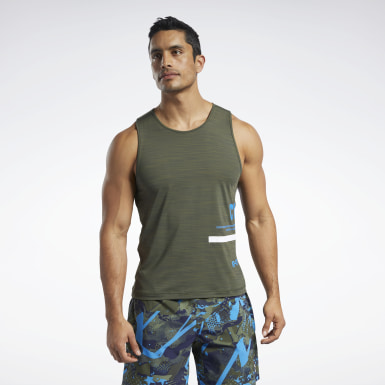 Men Training Green Reebok CrossFit® ACTIVCHILL Tank Top