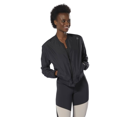 Chaqueta WOR Woven Negro Mujer Fitness & Training