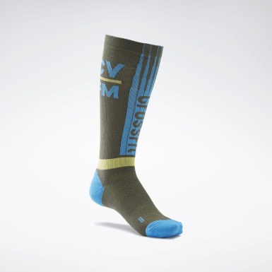 Cross Training Grön CrossFit® Printed Crew Socks