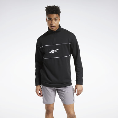 Männer Outdoor Workout Ready Doubleknit Quarter-Zip Jacket Schwarz