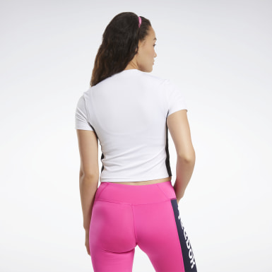 Women Cycling White MYT Zip Crop Top