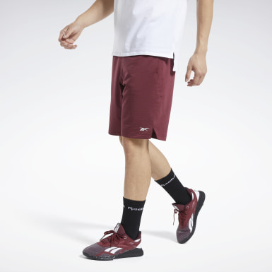 Herr Fitness & Träning Burgundy Workout Ready Shorts