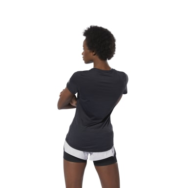 Polo Osr Ss Ac Tee Negro Mujer Running