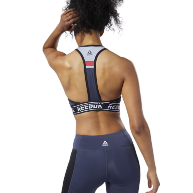Frauen Fitness & Training Meet You There Low-Impact Bralette Blau