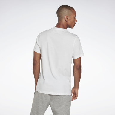T-shirt imprimé Series Reebok Stacked Blanc Hommes Fitness & Training