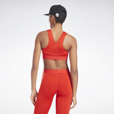 Women Fitness & Training Red VB Low-Impact Performance Bra