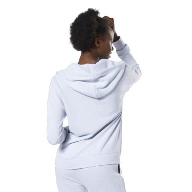 Sudadera Training Essentials Marble Full-Zip Blanco Mujer Fitness & Training
