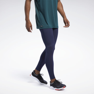 Tight Les Mills® Compression Blu Uomo Studio