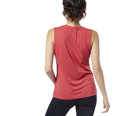 Women Training Red Supremium Tank Top