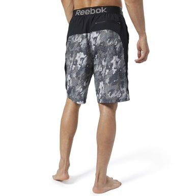 Men Training Black Reebok Jacquard E-Board Shorts