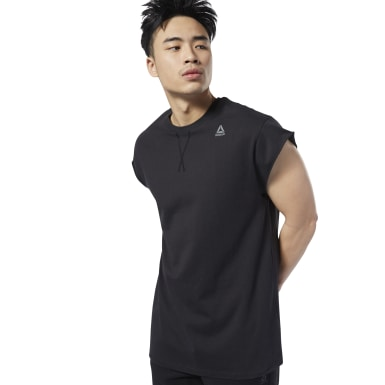 Men Studio Black LES MILLS® Sleeveless Boxing Tee