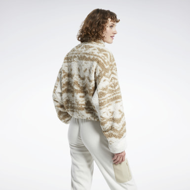 Women Classics White Classics Winter Escape Fleece Jacket