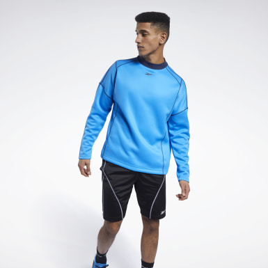 Men Training Blue MYT Crew Sweatshirt