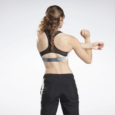 Bra Running Essentials Medium-Impact Nero Donna Ciclismo