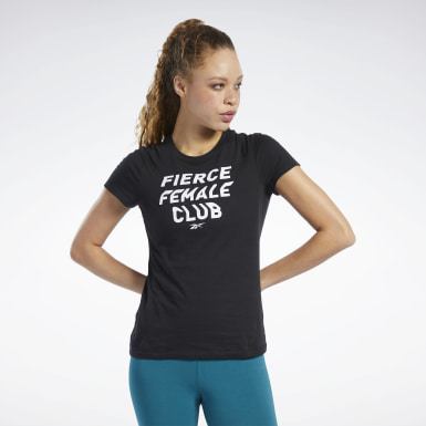 Remera Training Essentials Fierce Graphic Negro Mujer Entrenamiento Funcional