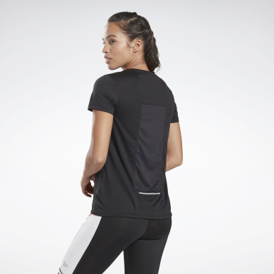 Dames Hardlopen Zwart Running Essentials Speedwick T-shirt