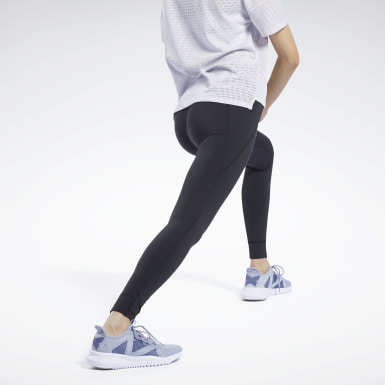 Women Yoga Black Reebok Lux 2 Leggings