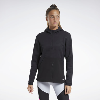 Women Fitness & Training Black Thermowarm Deltapeak Control Hoodie