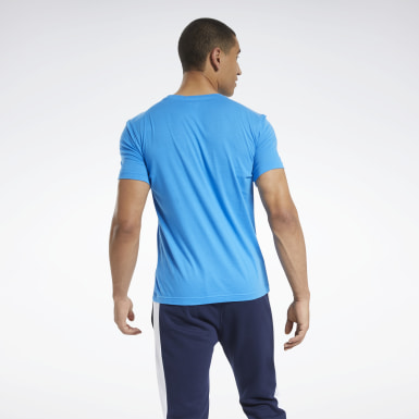 Heren Fitness & Training Blauw Graphic Series Reebok Stacked T-shirt