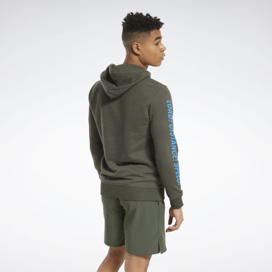 Men Training Green Reebok CrossFit® Forging Elite Fitness Graphic Hoodie