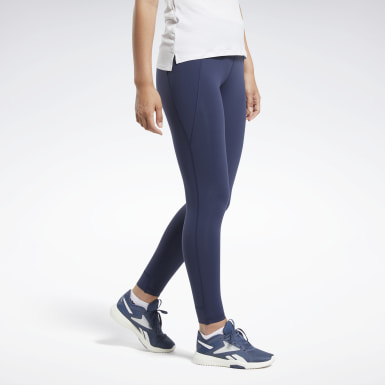 Women Cross Training Blue Reebok Lux Tights 2.0