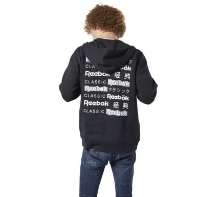 Herr Classics Svart Classics International Graphic Hoodie