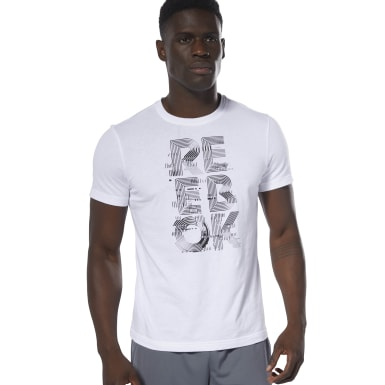 Men Training White Futurism Reebok Crew Tee