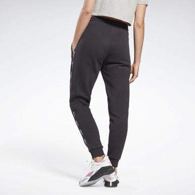 Women Fitness & Training Black Tape Joggers