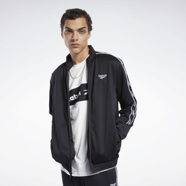 Men Classics Black Classics Vector Tape Track Jacket
