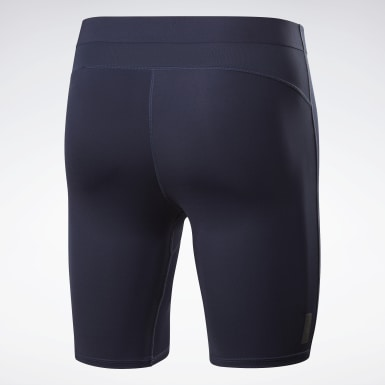 Men Training Blue United by Fitness Compression Shorts
