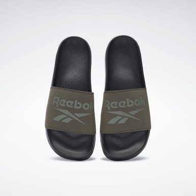 Men Swimming Green Reebok Fulgere Slides