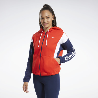 Women Fitness & Training Red Training Essentials Logo Hoodie