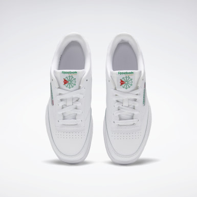 Boys Classics White Club C Shoes - Grade School