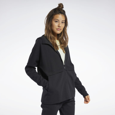 Women Yoga Black QUIK Cotton Hoodie