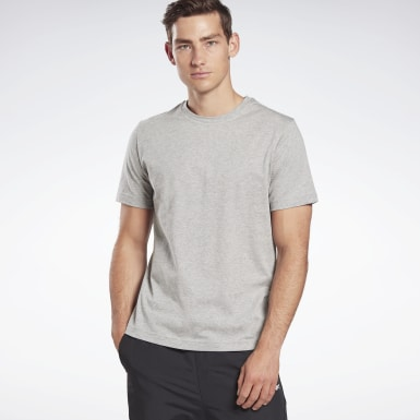 Men Fitness & Training Grey GB Short Sleeve Cotton Vector Tee