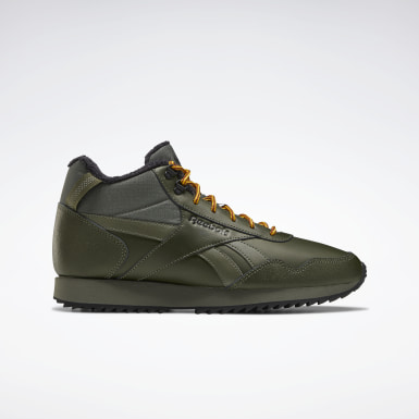Classics Green Reebok Royal Glide Mid Shoes