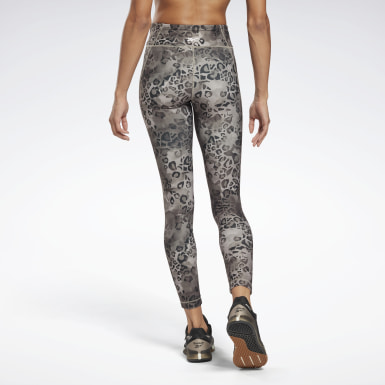 Women Training Grey Modern Safari Lux Bold Leggings