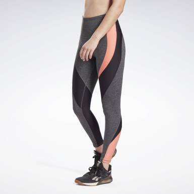 Women Training Grey Lux High-Rise Leggings