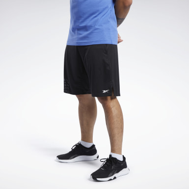 Men Yoga Black Knit Shorts