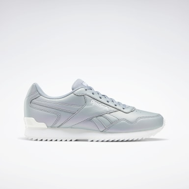 Women Classics Grey Reebok Royal Glide Ripple Clip Shoes
