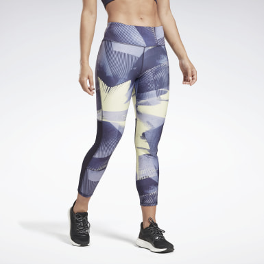Women Running Purple Running Essentials 7/8 Tights