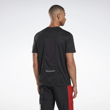 Men Running Black Running Essentials Tee