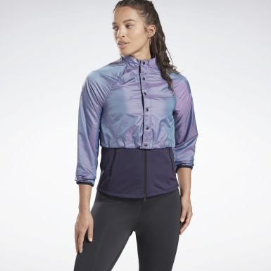 Dam Löpning Lila One Series Running Night Run Jacket