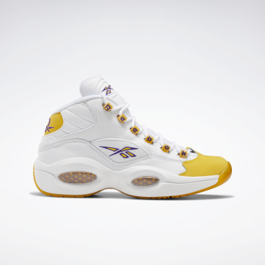 Men Classics White Question Mid Men's Basketball Shoes