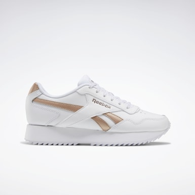 Kvinder Classics White Reebok Royal Glide Ripple Double Shoes